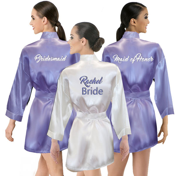 Thigh Length Satin Robe
