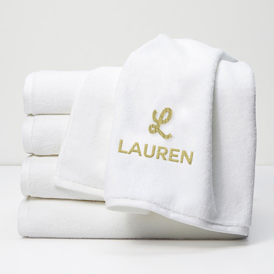 Initial Name Towel